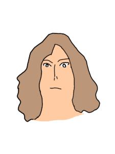 佐古真弓の似顔絵