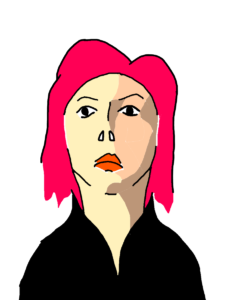 ブラック・ウィドウの似顔絵