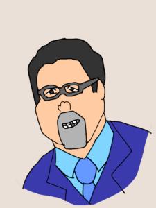 眼鏡のジョン・ファブローのイラスト