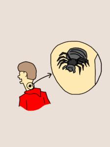 蜘蛛に噛まれたピーター