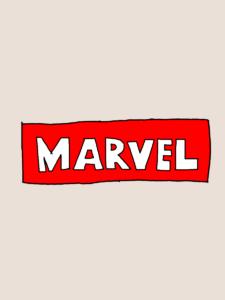 マーベルのタイトルイラスト