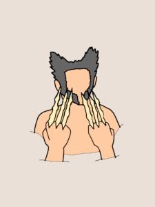 骨の爪を出すウルヴァリン