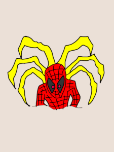 スパイダーマン瞬殺コマンドのイラスト