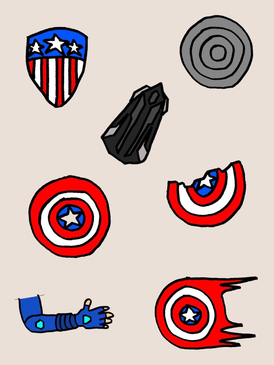 キャプテン・アメリカの盾の変化