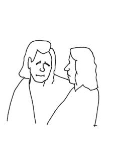 ロキとシルヴィのイラスト